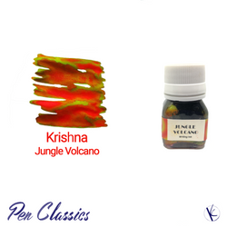 Krishna Jungle Volcano Orange Ink with Green Sheen