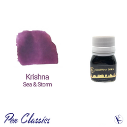 Krishna Sea and Storm Purple Fountain Pen Ink