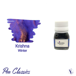 Krishna Winter 20ml Blue Purple Ink with Copper Sheen