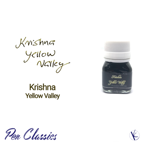 Krishna Yellow Valley Fountain Pen Ink