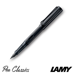 Lamy Al-Star Matte Black Fountain Pen Posted Nib