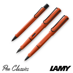 Lamy Safari Fountain Pen 2021 Originals Terra Red Full Set