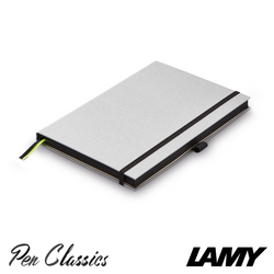 Lamy Hard Cover Notebook A5 Silver with Black Trim