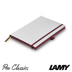 Lamy Hard Cover Notebook A5 Silver with Blackpurple Trim