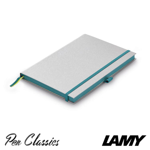 Lamy Hard Cover Notebook A5 Silver with Turmaline Trim