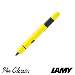 Lamy Pico Retractable Pocket Pen 2018 Neon Yellow Extended