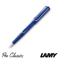 Lamy Safari Fountain Pen Blue Nib Posted