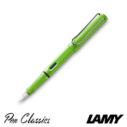 Lamy Safari Fountain Pen Green Nib Posted