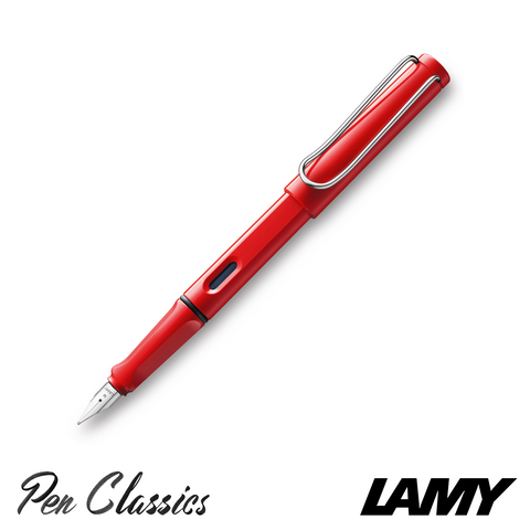 Lamy Safari Fountain Pen Red Posted with Nib