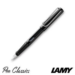 Lamy Safari Fountain Pen Shiny Black Nib Posted