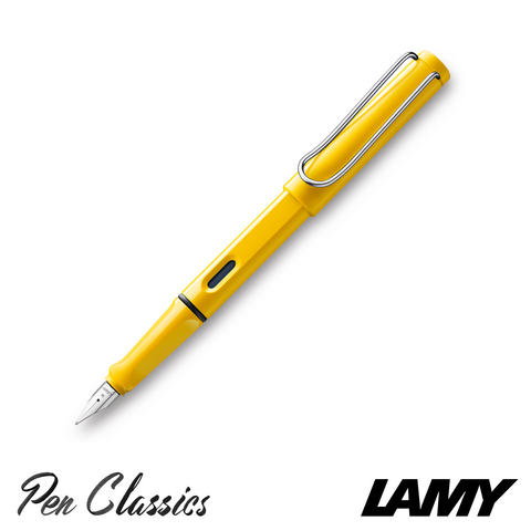 Lamy Safari Fountain Pen Yellow Posted with Nib