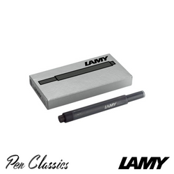 Lamy T10 Black Cartridges 5 Pack Cartridge Only