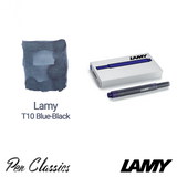 Lamy T10 Blue-Black Cartridges 5 Pack Cartridge and Swab