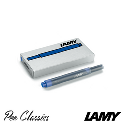 Lamy T10 Blue Cartridges 5 Pack Cartridge Only