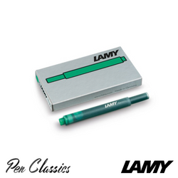Lamy T10 Green Cartridges 5 Pack Cartridge Only