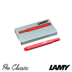 Lamy T10 Red Cartridges 5 Pack Cartridge Only