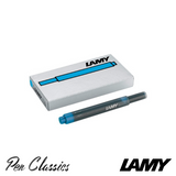 Lamy T10 Turquoise Cartridges 5 Pack Cartridge Only