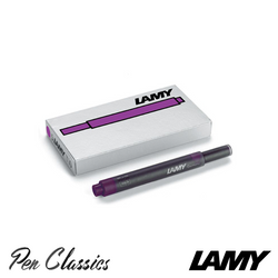 Lamy T10 Violet Cartridges 5 Pack Cartridge Only