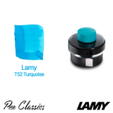 Lamy T52 Turquoise 50ml Bottle and Swab