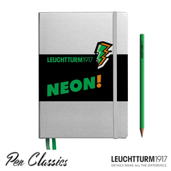 Leuchtturm 1917 A5 Medium Silver Neon Green