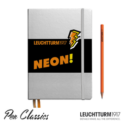Leuchtturm 1917 A5 Medium Silver Neon Orange