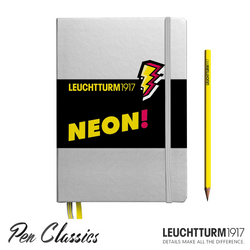 Leuchtturm 1917 A5 Medium Silver Neon Yellow