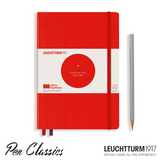 Leuchtturm 1917 Bauhaus A5 Medium Red