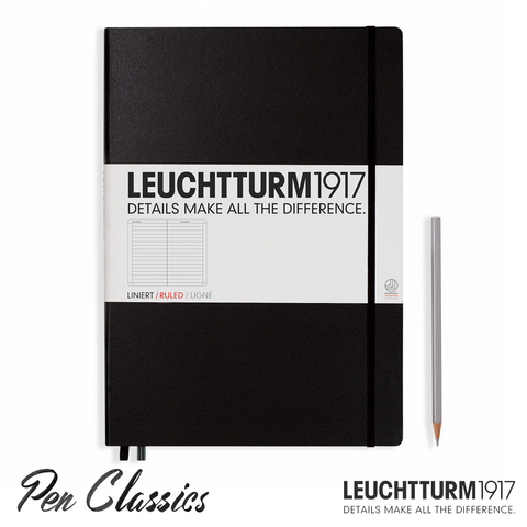 Leuchtturm 1917 Master Large A4 Lined Black