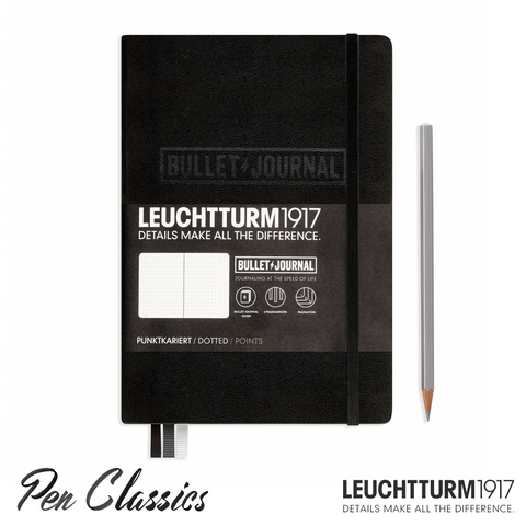 Leuchtturm 1917 Medium Dotted Bullet Journal - Black