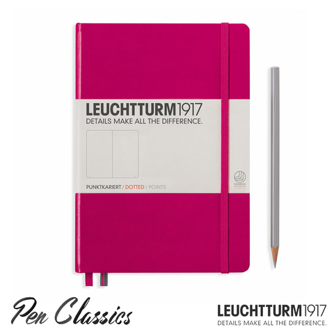 Leuchtturm 1917 Medium Dotted - Berry