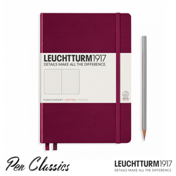 Leuchtturm 1917 Medium A5 Dot Grid Colour Port Red