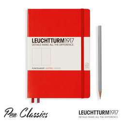 Leuchtturm 1917 Medium Dotted - Red
