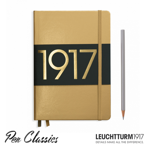 Leuchtturm 1917 Medium Dotted Metallic Edition - Gold
