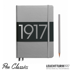 Leuchtturm 1917 Medium Dotted Metallic Edition - Silver