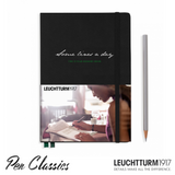 Leuchtturm 1917 Medium A5 Some Lines a Day - Black