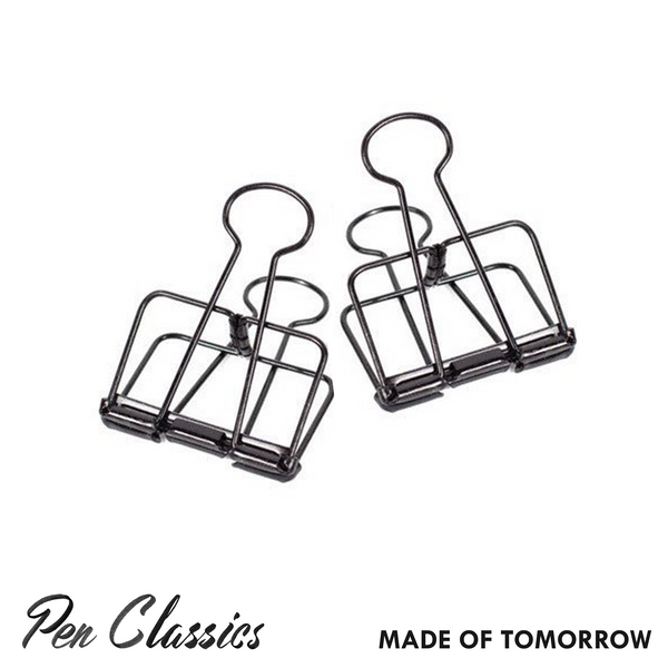 Made of Tomorrow Black Bulldog Clip // Large