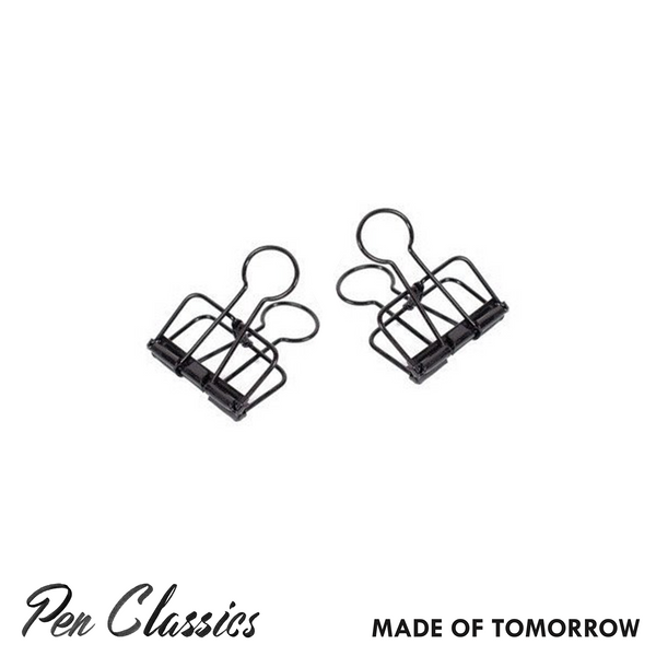 Made of Tomorrow Black Bulldog Clip // Small