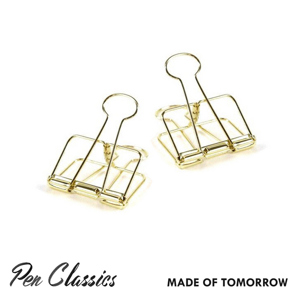 Made of Tomorrow Gold Bulldog Clip // Large