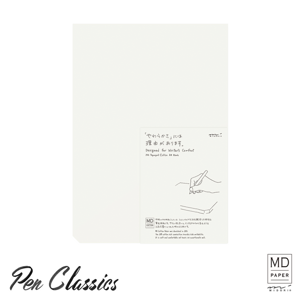 Midori MD Note Paperpad A4 Cotton Blank Package