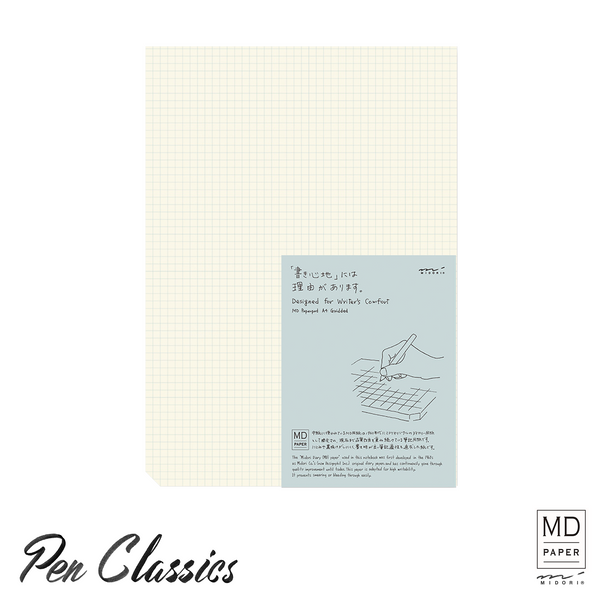 Midori MD Note Paperpad A4 Grid Package