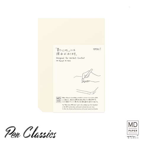 Midori MD Note Paperpad A5 Blank Package