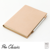Midori MD Notebook Cover A5 Goat Leather Closed with Notebook