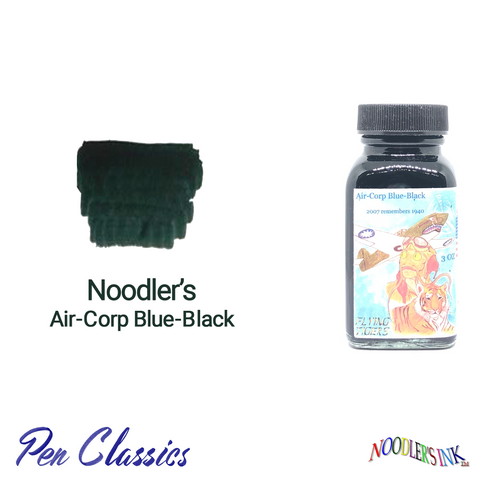 Noodler's Air-Corp Blue-Black 3oz Swab and Bottle