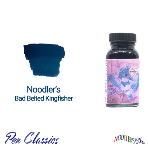Noodler's Bad Belted Kingfisher 3oz Swab and Bottle