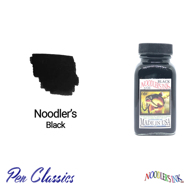 Noodler's Black 3oz Swab and Bottle