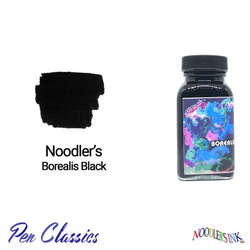 Noodler's Borealis Black 3oz Swab and Bottle