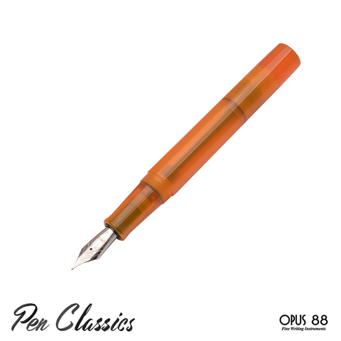 Opus 88 Demonstrator Orange Uncapped Nib