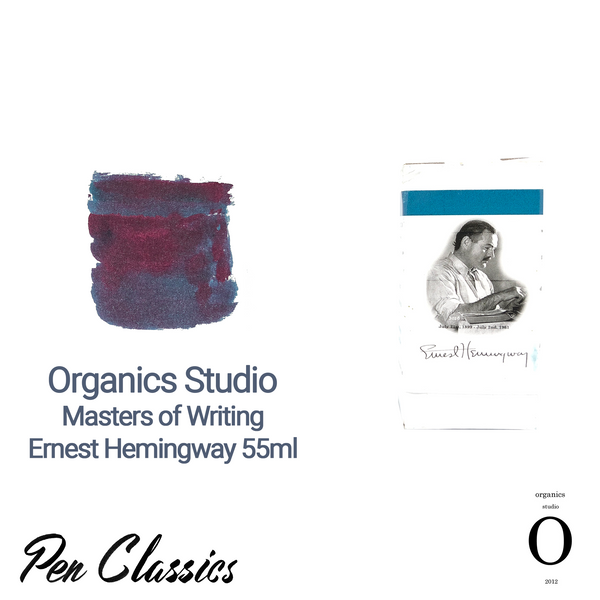 Organics Studio Ernest Hemingway Santiago Sea Blue Ink Bottle and Swab
