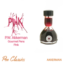 PW Akkerman Gourmet Pens Pink Bottle and Swab