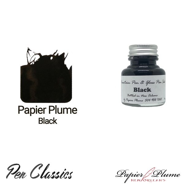 Papier Plume Black 30ml Bottle and Swab